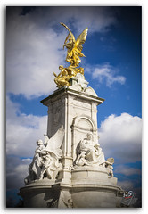 Queen Victoria Memorial Monument Statue! (KS Photography!) Tags: travel blue england sculpture london english history tourism monument fountain westminster yellow statue architecture angel clouds photography gold nikon memorial colorful europe symbol unitedkingdom britain outdoor united famous capital culture streetphotography kingdom bluesky landmark palace victoria tourist historic queen architect international buckinghampalace monarch government historical marble multicolored nikondigital queenvictoria themall victoriamemorial streetsoflondon pentelicmarble iconographic lowerangle carraramarble architectureandbuilding giltbronze photoborder flickrunitedaward architecturalpurity