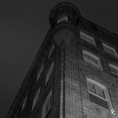118/366 - 90 Main Street (sdgiere) Tags: blackandwhite night square iowa architectural dubuque afterdark brink