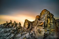 Dragon's Teeth Volcanic Rock Formation in Maui _DSC2256 (The Smoking Camera) Tags: longexposure sky colors rock clouds sunrise 35mm landscape hawaii lava sony teeth dragons maui formation kapalua geology volcanic mirrorless rx1rii rx1r2