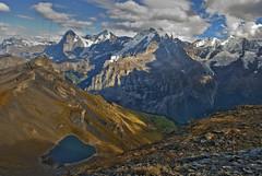 "Birg , the Jungfrau , A view to""Eiger"" (elevation 3970 m = 13025 ft), ""Mnch"" (4099 m = 13448 ft) and ""Jungfrau"" (4158 m = 13642 ft) ""Mnch"" is the german word for ""monk"", ""Jungfrau"" means young lady.  No. 6251. (Izakigur) Tags: schweiz switzerland flickr suiza feel lac glacier climbing bern berne eiger thelittleprince jungfrau berna musictomyeyes berneroberland sussa schilthorn suizo mrren myswitzerland lasuisse nikond200 kantonbern izakigur thejungfrauregion cantonofbern suisia laventuresuisse"