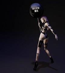 blackLiquid - 174 b l a c k L i q u i d . B L O G (Q u e e n B) Tags: balloon fiore blackliquid powersofcreation titzuki