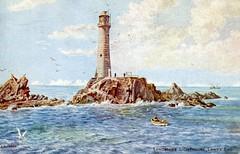 Longships , Lighthouse , Land's End , Cornwall . (AndrewHA's) Tags: sea lighthouse rock cornwall postcard landsend penzance longships