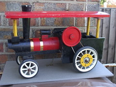 Vintage Hand Made Wooden Steam Traction Engine Model Quite Primitive (beetle2001cybergreen) Tags: vintage wooden model hand traction engine steam made quite primitive