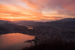 Winter sunset.... (janjaalugano) Tags: sunset red canon landscape tramonto rosso lugano paesaggio g12 luganese poweshot