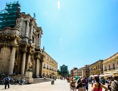 Piazza Duomo (brianloganphoto) Tags: travel italy tourism landscape europe day syracuse sicily piazza duomo regions piazzaduomo