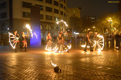 Giant Fans (naturalturn) Tags: show sanfrancisco california usa lauren night fire solar dance costume rachel dancing action christina group performance andrew victoria monica spinning firespinning firedancing flare fans mairead unplaza solarflare firedance firefans andrewpenn monicafine rachelrajput image:rating=4 image:id=137674 maireadmaheigan