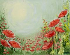 """""""El Sitio de Poder"""". (svet.llum) Tags: flores sol arte flor paisaje bella rosella pintura leo magia amapola roselles"""
