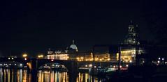 Dresden - Altstadt at Night (Andr-DD) Tags: bridge church water river germany deutschland dresden wasser nightshot saxony kirche sachsen brcke fluss altstadt frauenkirche elbe nachtaufnahme hofkirche augustusbrcke brhlscheterrasse