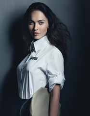 Megan Fox 2 (drno_manchuria (simonsaw)) Tags: hat fashion shirt uniform moda actress gorra collar uniforme camisa cuello actriz meganfox