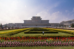 President's Palace & Mausoleum (synecto) Tags: flowers kim tulips palace presidential il mausoleum jong pyongyang sung dprk