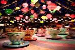 Mad Hatter's Tea Cups (•Nicolas•) Tags: disneyland paris france animation cups alice fantasyland nicolasthomas colors mouvement speed lamps lampes tasses