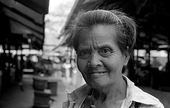Canon A1 50mm 1.4 Myanmar Yangon HP5 sm (shakmati) Tags: street travel portrait bw white black film blanco monochrome 35mm canon 50mm retrato burma negro hp5 myanmar a1 blanc ritratto ilford nero  135mm