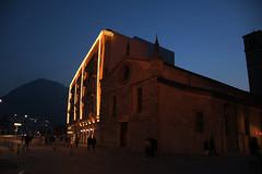 DSC_4827 (Vojinovic_Marko) Tags: santa city travel museum lights switzerland ticino nikon dusk maria sidewalk museo helvetica lugano canton degli angeli swizzera vajcarska d7200