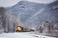 Snowy Highcliff (Peyton Gupton) Tags: snow mountains tn snowy tennessee kentucky ky jonas corbin morley csx habersham highcliff jellico csxt chaska