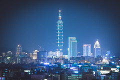 DSCF5495 (Type-SYU) Tags: leica city longexposure nightphotography blue urban building architecture night construction cityscape nightscape taiwan fujifilm taipei taipei101    90mm     101