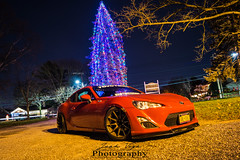 Red FRS (joshualvega) Tags: pictures longexposure red night photography photoshoot sony automotive subaru toyota scion lowered jdm brz frs automotivephotography fa20 gt86 rawdriving