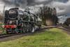 Light engine (Graham Knott) Tags: greatcentralrailway gcr battleofbritainclass 34053 sirkeithpark greatcentralrailwaywintergala2016