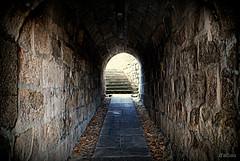 """Hacia """"La Coronilla"""" (Franco DAlbao) Tags: door history puerta capital tunnel medieval galicia walls tunel historia acceso templarios tuy murallas knighttemplars nikond60 tyde dalbao francodalbao castellumtyde reinosuevo pasadizodasmonxas"""