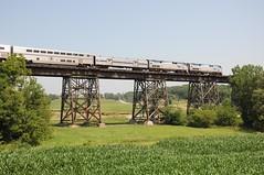 Amtrak191MediaIL7-7-13 (railohio) Tags: bridge illinois media 4 trains amtrak bnsf southwestchief superliner d90 p42 070713