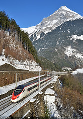 Meet and Cross... (Marco Stellini) Tags: alps san milano zurich sbb alstom ffs gotthard eurocity mailand pendolino cff gottardo etr610