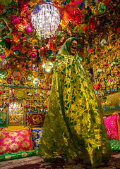 bride in the decorated room for traditional wedding, Hormozgan, Bandar-e Kong, Iran (Eric Lafforgue) Tags: wedding people woman vertical photography persian clothing women colorful asia pattern veil dress mask iran room muslim islam traditional religion decoration ceremony hijab culture traditions marriage persia folklore womenonly kong celebration hidden indoors identity human covered ritual iranian colourful ornate custom adults abundance cushions adultsonly oneperson islamic burqa ethnicity middleeastern persiangulf sunni chador 20sadult youngadultwoman hormozgan onewomanonly burqua إيران иран embroidering 1people イラン irão straitofhormuz 伊朗 unrecognizableperson colourpicture bandarekong 이란 borqe irandsc04807 boregheh