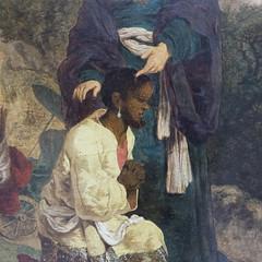 Herman Nauwincx/Naiwincx Baptism of the Ethiopian Eunuch Netherlands (c. 1623) Muse du Louvre; photo via supernaut.info (medievalpoc) Tags: art history netherlands conversion baptism herman ethiopia eunuch the 1600s nauwincx medievalpoc