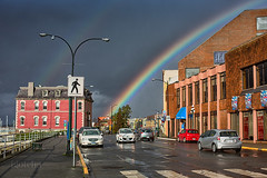 29/366 (photos=happiness - I am back!!) Tags: city sky sun rain buildings rainbow happiness victoria