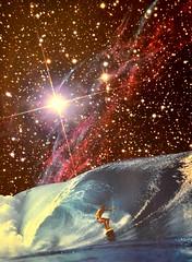 Surf Session (Djuno Tomsni) Tags: collage paper surf handmade surrealism space cutandpaste djunotomsni
