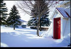 160206-4054-EOSM.jpg (hopeless128) Tags: door red lighthouse snow canada newbrunswick moncton bandstand riverview 2016