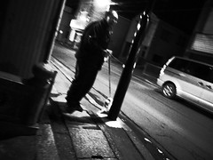 You are walking with your invisible dog. (-ICHIRO) Tags: street digital snap gr iv ricoh