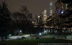 Central Park Night (P1152490) (Michael.Lee.Pics.NYC) Tags: longexposure newyork clouds pond cityscape path centralpark hill olympus fifthavenue mkii markii em5 hallettnaturesanctuary 714mmpro28