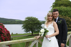 Wedding couple at Lovers Loup