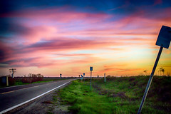 The Road on the Delta (Sierra Springs Photography) Tags: california sunset us unitedstates delta countryroad westsacramento sierraspringsphotography karenschmautz