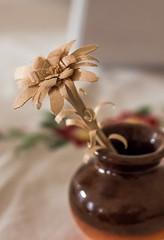Wooden flower (lensflare82) Tags: wood flower art floral canon handicraft eos wooden artist blossom handmade kunst fine carving petal vase handcrafted stick fein blume holz blte edelweiss handcraft handwerk knstler deko schnitzerei bltenblatt hlzern scrimshaw edelweis filigran filigrane 700d