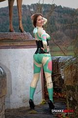 Fotoshooting mit Spanksmedia (IchWillMehrPortale) Tags: sexy fetish skinny fantastic shiny im main sm rubber ricci latex gummi schloss würzburg catsuit leggings glänzend ichwillmehr spanksmedia