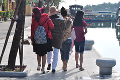 In step (Roving I) Tags: trees tourism boats tourists vietnam hoian rivers backpacks riverfront jackets bollards instep smartphones sunhats trishngo