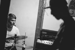 (. . .) Tags: chile show santiago light music white black blanco rock contraluz drums grey gris concert shadows angle y no flash low negro wide indie bateria sombras 2016 monochromo