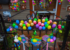 Easter Eggs (justingreen19) Tags: nyc newyorkcity urban holiday ny newyork brooklyn easter children religious gate colorful chocolate vibrant decorative plastic eggs williamsburg tradition greenpoint frontgate easterbunny eastereggs easteregg happyeaster urbanabstract plasticeggs nycphotography justingreen19