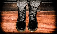 Black Patent Dr Martens. (CWhatPhotos) Tags: pictures camera girls portrait woman black leather canon pose that photography foto hole legs image boots artistic zoom pics walk dr leg picture pic images womens holes have photographs photograph fotos 7d sole marten which soles dm 18200 eight docs contain bouncing airwair martens patent dms onthe 18200mm 1460 cwhatphotos