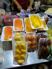 So many fruits to choose from! (locket479) Tags: food fruit thailand papaya mango mandarin streetfood jackfruit snakefruit