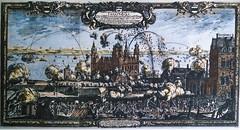 Swedes attack Kronborg castle 6.9. 1658 (frankmh) Tags: denmark etching war sweden outdoor bombardment resund 1658 kronborgcastle