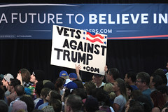 Bernie Sanders supporter with anti-Donald Trump sign (Gage Skidmore) Tags: arizona phoenix fairgrounds vermont state senator president bernie campaign primary sanders 2016