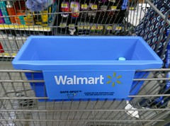 """Walmart """"safe spot"""" shopping cart container (l_dawg2000) Tags: new usa mississippi store unitedstates large walmart departmentstore ms spark groceries supercenter hornlake discountstore desotocounty sparklogo cheapimpact"""