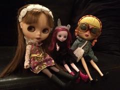 Terrific Tuesday girls (trishahillery) Tags: bigeyes doll dolls ooak vinyl blythe bighead bigheaddoll harelow