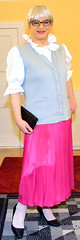 Ingrid021720 (ingrid_bach61) Tags: skirt blouse mature button waistcoat pleated ruffled weste faltenrock rschenbluse durchgeknpft