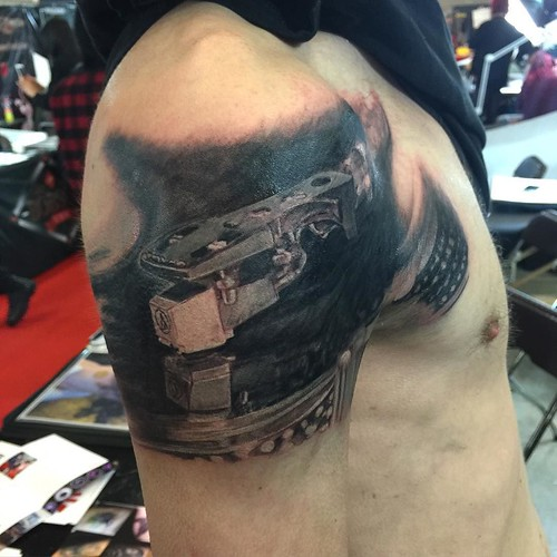 Worked On This Pioneer Sl Record Player Tattoo Today On The