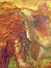 ElephantCU (Luar Zorrillo) Tags: life africa elephant animal movement force paintings vida ganesh trunk savannah pintura elefante tusk luar impresionism zorrillo fuerza mamut trompa impresionismo paquidermo raulmorales colmillo impresionista trompudo paquiderm