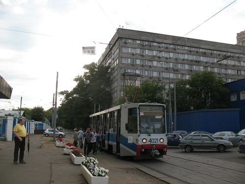 Moscow tram 71-608K 4021