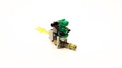 Trevor the T-Rex's Space Scooter (UndercoverWookiee) Tags: cute gun ship dino lego trevor space scooter mini flame build rex trex thruster minigun