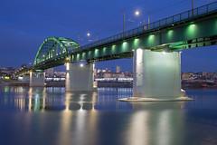 Stari most (boki73) Tags: blue serbia most hour sat belgrade beograd stari srbija plavi tramvajski